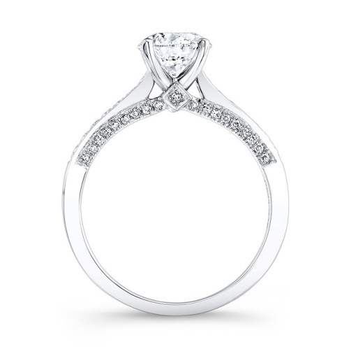 18K WHITE GOLD PRONGSET DIAMOND BAND ENGAGEMENT RING FM26926 18W 1 - 18K WHITE GOLD PRONGSET DIAMOND BAND ENGAGEMENT RING FM26926-18W