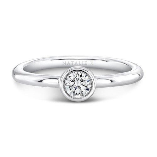 18K WHITE GOLD THREE STONE STACKABLE BANDS FM29106 18W 2 - 18K WHITE GOLD THREE STONE STACKABLE BANDS FM29106-18W