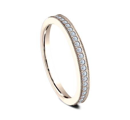 2.5MM ROSE GOLD DIAMOND BAND 5425730R 1 - 2.5MM ROSE GOLD DIAMOND BAND 5425730R