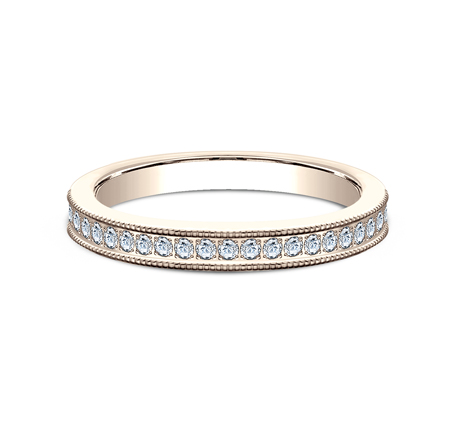 2.5MM ROSE GOLD DIAMOND BAND 5425730R 2 - 2.5MM ROSE GOLD DIAMOND BAND 5425730R