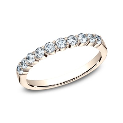 2.5MM ROSE GOLD SHARED PRONG DIAMOND BAND 5538215R - 2.5MM ROSE GOLD SHARED PRONG DIAMOND BAND 5538215R