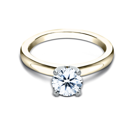 2.5MM YELLOW GOLD BASIC SOLITAIREL ENGAGEMENT RING 2 - 2.5MM YELLOW GOLD BASIC SOLITAIREL ENGAGEMENT RING LCBSA-LHRD100-Y