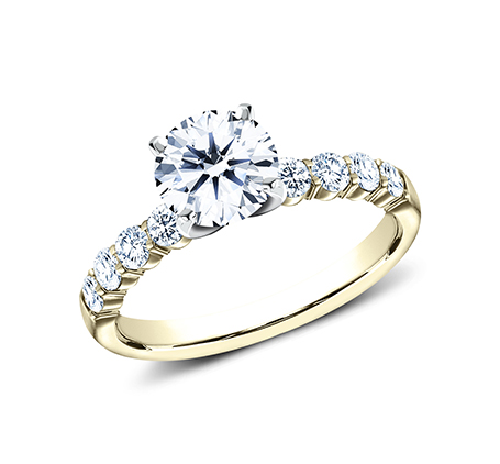 2.5MM YELLOW GOLD SHARED PRONG ENGAGEMENT SET SPA6 LHSET Y 1 - 2.5MM YELLOW GOLD SHARED PRONG ENGAGEMENT SET SPA6-LHSET-Y