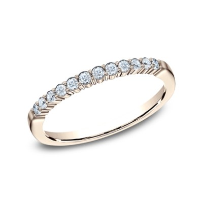 2MM ROSE GOLD SHARED PRONG DIAMOND BAND 552621R - 2MM ROSE GOLD SHARED PRONG DIAMOND BAND 552621R