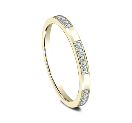 2MM YELLOW GOLD DIAMOND BAND 522851Y 1 - 2MM YELLOW GOLD DIAMOND BAND 522851Y