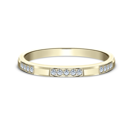 2MM YELLOW GOLD DIAMOND BAND 522851Y 2 - 2MM YELLOW GOLD DIAMOND BAND 522851Y