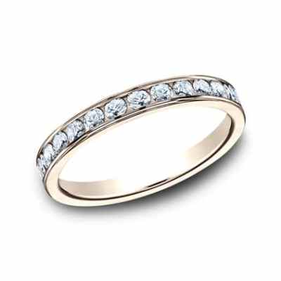 3MM ROSE GOLD CHANNEL SET DIAMOND BAND 513525R - 3MM ROSE GOLD CHANNEL SET DIAMOND BAND 513525R