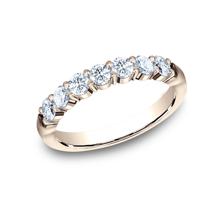 3MM ROSE GOLD SHARED PRONG DIAMOND BAND 5535015R - 3MM ROSE GOLD SHARED PRONG DIAMOND BAND 5535015R