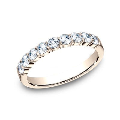 3MM ROSE GOLD SHARED PRONG DIAMOND BAND 5535922R - 3MM ROSE GOLD SHARED PRONG DIAMOND BAND 5535922R