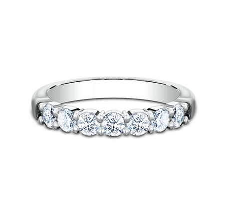 3MM WHITE GOLD SHARED PRONG DIAMOND BAND 5535015W 2 - 3MM WHITE GOLD SHARED PRONG DIAMOND BAND 5535015W