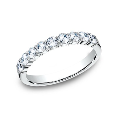 3MM WHITE GOLD SHARED PRONG DIAMOND BAND 5535922W - 3MM WHITE GOLD SHARED PRONG DIAMOND BAND 5535922W