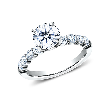 3MM WHITE GOLD SHARED PRONG ENGAGEMENT RING SPA8 LHRD100 W - 3MM WHITE GOLD SHARED PRONG ENGAGEMENT RING SPA8-LHRD100-W