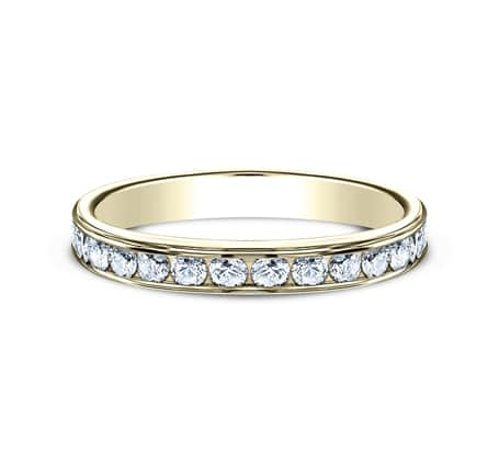 3MM YELLOW GOLD CHANNEL SET DIAMOND BAND 513525Y 2 1 - 3MM YELLOW GOLD CHANNEL SET DIAMOND BAND 513525Y