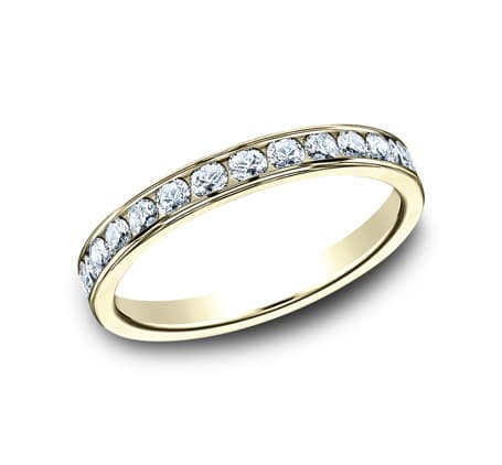 3MM YELLOW GOLD CHANNEL SET DIAMOND BAND 513525Y 3 - 3MM YELLOW GOLD CHANNEL SET DIAMOND BAND 513525Y