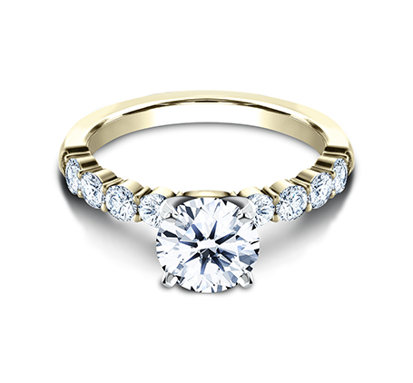 3MM YELLOW GOLD SHARED PRONG ENGAGEMENT RING SPA8 LHRD100 Y 2 - 3MM YELLOW GOLD SHARED PRONG ENGAGEMENT RING SPA8-LHRD100-Y
