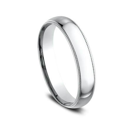 4MM WHITE GOLD COMFORT FIT BAND LCF340W 1 - 4MM WHITE GOLD COMFORT-FIT BAND LCF340W