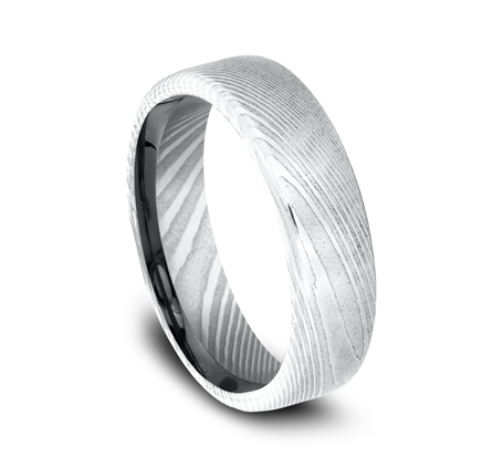 6.5MM DAMASCUS STEEL BAND EUCF165DS 1 - 6.5MM DAMASCUS STEEL BAND EUCF165DS