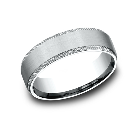 6.5MM WHITE GOLD COMFORT FIT BAND - 6.5MM WHITE GOLD COMFORT-FIT BAND CF4965749W