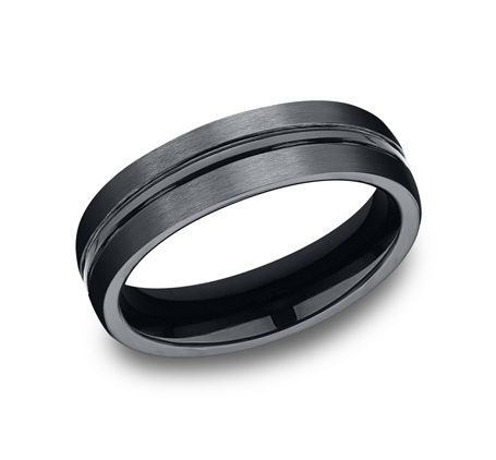 6MM CERAMIC COMFORT FIT SATIN FINISHED BAND CF56411CM - 6MM CERAMIC COMFORT-FIT SATIN-FINISHED BAND CF56411CM