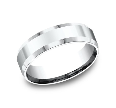 6MM COMFORT FIT HIGH POLISHED CARVED DESIGN BAND CF66426W - 6MM COMFORT-FIT HIGH POLISHED CARVED DESIGN BAND CF66426W