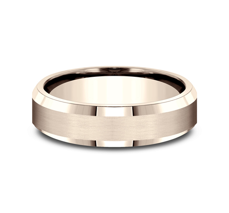 6MM COMFORT FIT SATIN FINISHED CARVED DESIGN BAND CF66416R 2 - 6MM COMFORT-FIT SATIN-FINISHED CARVED DESIGN BAND CF66416R