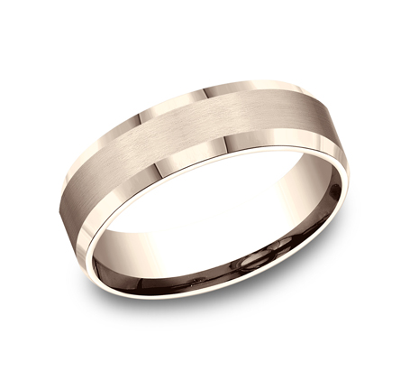 6MM COMFORT FIT SATIN FINISHED CARVED DESIGN BAND CF66416R - 6MM COMFORT-FIT SATIN-FINISHED CARVED DESIGN BAND CF66416R
