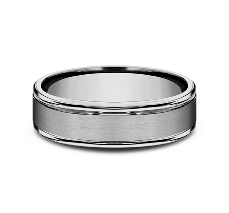 6MM COMFORT FIT TUNGSTEN BAND RECF7602STG 2 - 6MM COMFORT-FIT TUNGSTEN BAND RECF7602STG