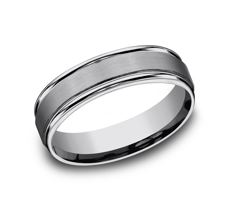 6MM COMFORT FIT TUNGSTEN BAND RECF7602STG - 6MM COMFORT-FIT TUNGSTEN BAND RECF7602STG