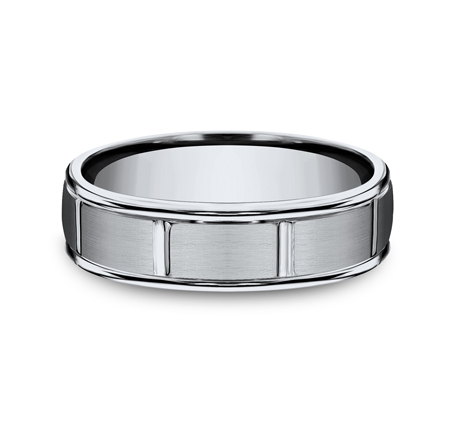 6MM TITANIUM BAND FEATURES A SATIN FINISHED RECF76452T 2 - 6MM TITANIUM BAND FEATURES A SATIN-FINISHED RECF76452T