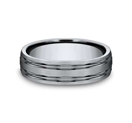 6MM TITANIUM COMFORT FIT SATIN FINISHED BAND CF56444T 2 - 6MM TITANIUM COMFORT-FIT SATIN-FINISHED BAND CF56444T