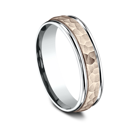 6MM TWO TONED CARVED DESIGN BAND CF216303 1 - 6MM TWO-TONED CARVED DESIGN BAND CF216303