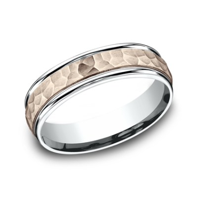 6MM TWO TONED CARVED DESIGN BAND CF216303 - 6MM TWO-TONED CARVED DESIGN BAND CF216303
