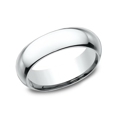 6MM WHITE GOLD BAND HDCF160W - 6MM WHITE GOLD BAND HDCF160W