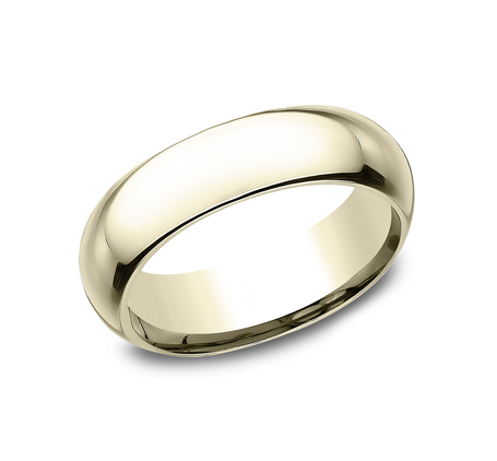 6MM YELLOW GOLD BAND HDCF160Y - 6MM YELLOW GOLD BAND HDCF160Y