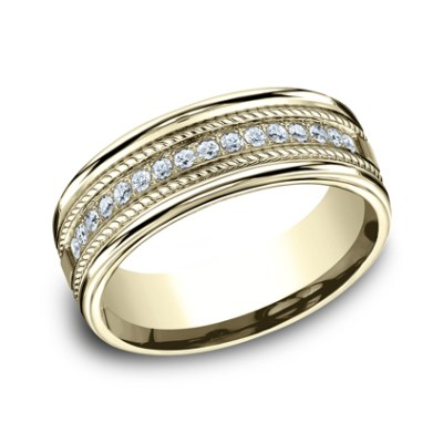 7.5MM COMFORT FIT DIAMOND BAND CF717581Y - 7.5MM COMFORT-FIT DIAMOND BAND CF717581Y