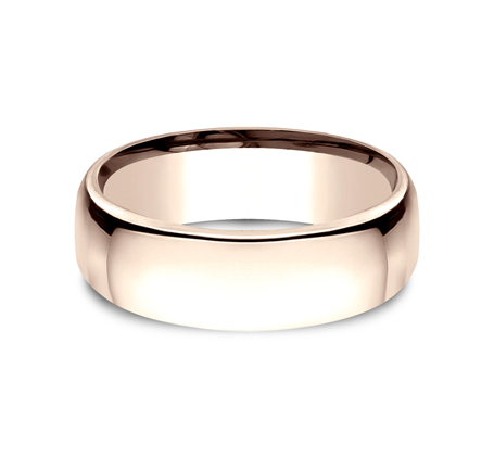 7.5MM ROSE GOLD CLASSY AND ELEGANT BAND EUCF175R 2 - 7.5MM ROSE GOLD CLASSY AND ELEGANT BAND EUCF175R