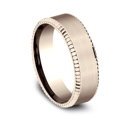 7MM COMFORT FIT ROSE GOLD BAND CF67527R 1 - 7MM COMFORT FIT ROSE GOLD BAND CF67527R