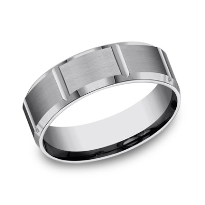 7MM COMFORT FIT SATIN FINISHED TUNGSTEN BAND CF67449TG - 7MM COMFORT-FIT SATIN-FINISHED TUNGSTEN BAND CF67449TG
