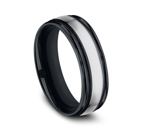 7MM COMFORT FIT TUNGSTEN BAND RECF77864CMTG 1 - 7MM COMFORT-FIT TUNGSTEN BAND RECF77864CMTG