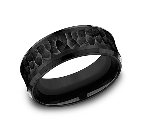 8MM BLACK TITANIUM COMFORT FIT BAND CF368753BKT - 8MM BLACK TITANIUM COMFORT-FIT BAND CF368753BKT