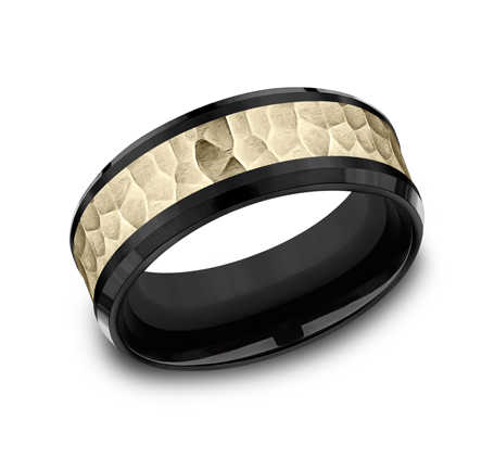 8MM BLACK TITANIUM COMFORT FIT BAND CF378753BKTY - 8MM BLACK TITANIUM COMFORT-FIT BAND CF378753BKTY