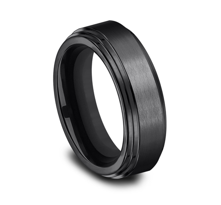 8MM BLACK TITANIUM COMFORT FIT BAND CF68100BKT 1 - 8MM BLACK TITANIUM COMFORT-FIT BAND CF68100BKT
