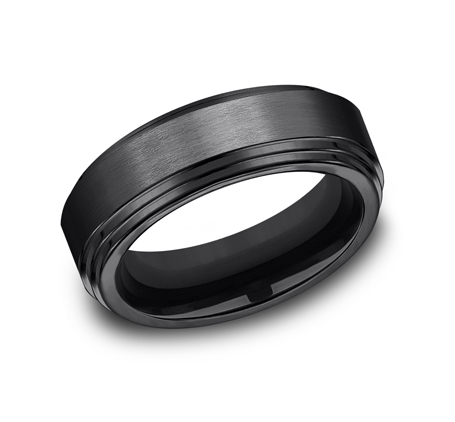 8MM BLACK TITANIUM COMFORT FIT BAND CF68100BKT - 8MM BLACK TITANIUM COMFORT-FIT BAND CF68100BKT