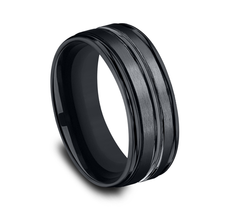 8MM CERAMIC COMFORT FIT SATIN FINISHED BAND RECF58180CM 1 - 8MM CERAMIC COMFORT-FIT SATIN-FINISHED BAND RECF58180CM
