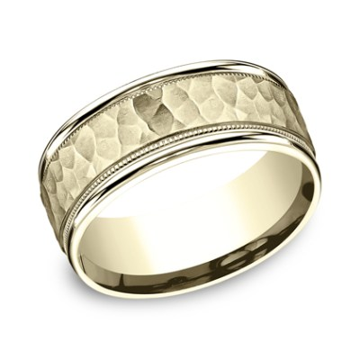 8MM COMFORT FIT CARVED DESIGN BAND CF158309Y - 8MM COMFORT-FIT CARVED DESIGN BAND CF158309Y