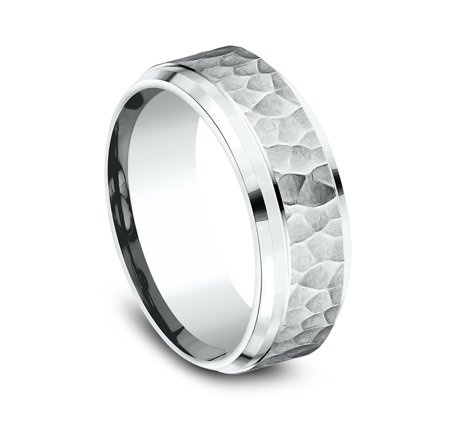 8MM COMFORT FIT CARVED DESIGN BAND CF68490W 2 - 8MM COMFORT-FIT CARVED DESIGN BAND CF68490W