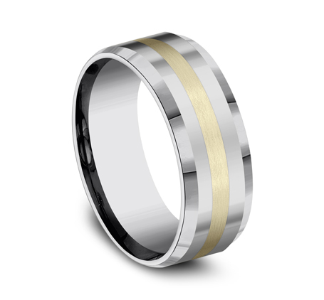 8MM COMFORT FIT TUNGSTEN BAND CF6842618KYTG 1 - 8MM COMFORT-FIT TUNGSTEN BAND CF6842618KYTG