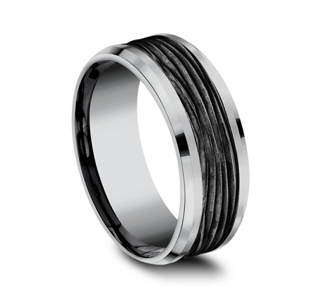 8MM GREY TANTALUM DESIGN BAND CF128743BKTGTA 1 - 8MM GREY TANTALUM DESIGN BAND CF128743BKTGTA