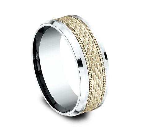 8MM TWO TONE DESIGN BAND CF418497 1 - 8MM TWO TONE DESIGN BAND CF418497