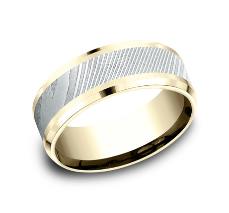 8MM YELLOW GOLD DESIGN BAND CF338814DSY - 8MM YELLOW GOLD DESIGN BAND CF338814DSY